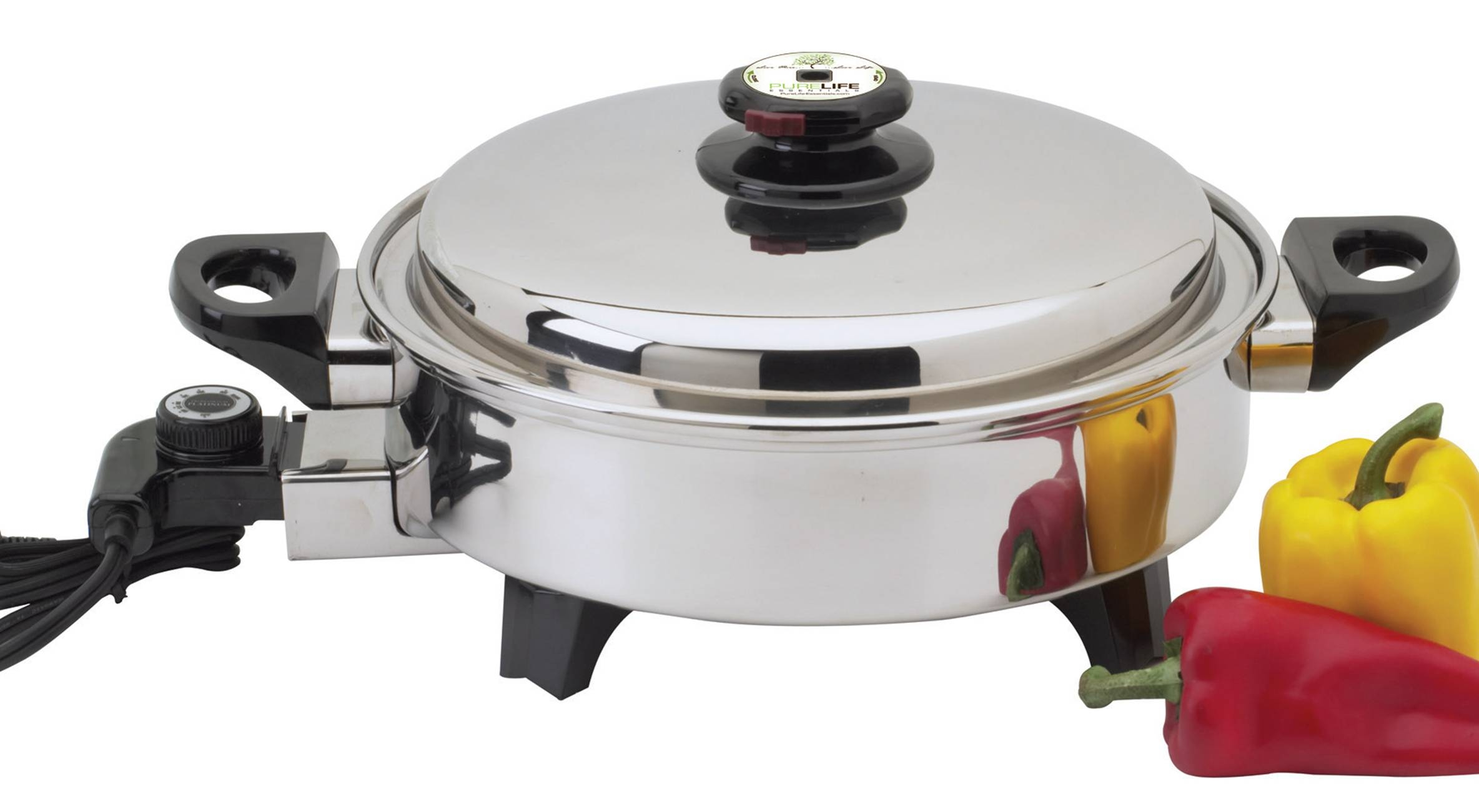 Pl 12 Quot Oil Core Electric Skillet With Vent Cover Water
