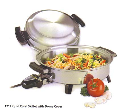 American Royalty Oil Core Electric Skillet Water